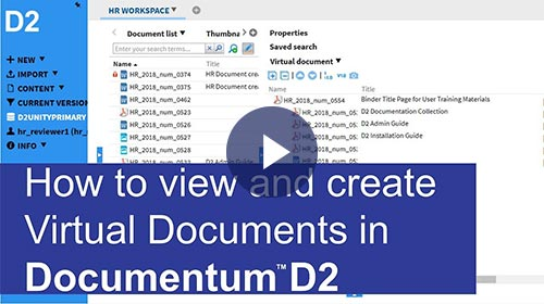 View and create Virtual Documents