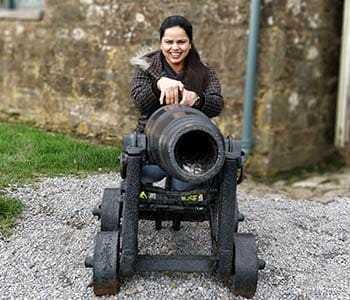 Arzoo visiting a castle